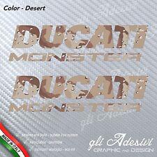 2 Adesivi DUCATI MONSTER serbatoio mimetico DESERT