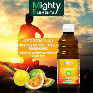 Liposomales Vitamin D3, K2-MK7, B12, Magnesium vegan aus Deutschland