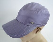 STEFANO RICCI Light Purple Silk Crocodile Leather Baseball Cap Hat Size 59 Large