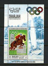 Sharjah 1968  #MB40A  olympics equestrian  sheet  MNH  I894
