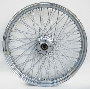 """Chrome 80 Spoke 23"""" x 3.5"""" Dual Disc Front Wheel For Harley Touring And Customs"""
