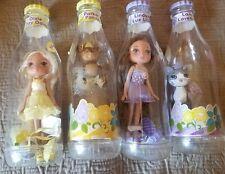Lot of 4 Yummi Land Dolls with Bottles Dixie, Parker, Lindsay Lue, Lana Lavendar