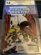 Power Man and Iron Fist # 1 CGC 9.8 04/16 3X Auto C-Young Variant {CGCB3}