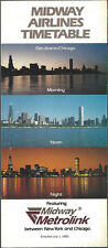 Midway Airlines system timetable 7/1/83 [6105] Buy 2 get 1 Free