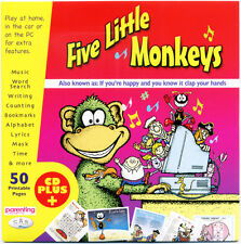 Five little monkeys CD -  25 favourite kids songs.  CD in card wallet NEW