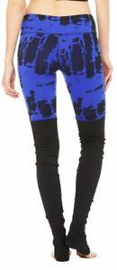 Alo Yoga Goddess Legging W5386R Deep Electric Blue Tie Dye