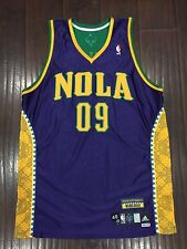 RARE🔥 Adidas NOLA Hornets Mardi Gras Authentic Jersey Sewn Player Issued 48 VTG