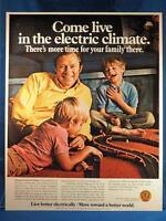 Vintage Magazine Ad Print Design Advertising Flameless Electric Heat