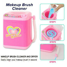 Mini Electric Washing Machine Dollhouse Toy Very Useful Wash Makeup Brushes US