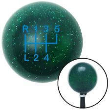 Blue Shift Pattern 50n Green Metal Flake Shift Knob with M16x1.5 insert rhr 428