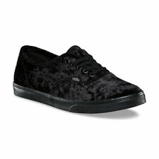 Vans Authentic Lo Pro (Velvet) Black/Black Women's Skate Shoes Size 5.5