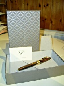***START USD 99!***  VISCONT Dali  Rollerball, brown marbled