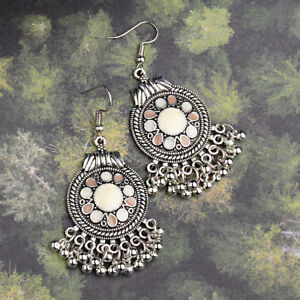 Fashion Vintage Antique Bohemian Hook Tassel Beads Dangle Ethnic Retro Earrings