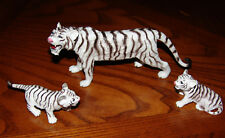 Safari Animals White Tiger Figures, Lot of 3, AAA, Toys