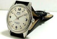 vintage hmt pilot hand winding men's stainless steel wrist watch run order
