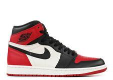 Air Jordan 1 Retro 555088-610 Bred Toe Men's Shoes - Gym Red/Black-Summit White