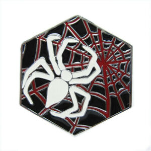 Spider's Web Metal Belt Buckle Spider Spiders Black Death Metal Hard Rock Band