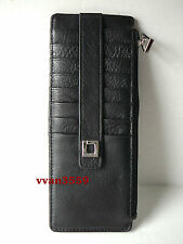 Lodis Black/Silver Leather Credit Card Stacker Wallet Insert - NWOT