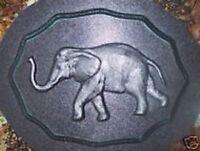 Elephant wall plaque mold plaster concrete casting mould