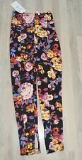rare ZARA STUDIO LEGGINGS HOSE BLUMEN Blogger Gr.S high waits
