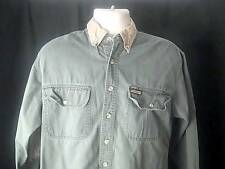 REMINGTON Vintage  Mens S Green Hunting Fishing Shirt Elbow Patches