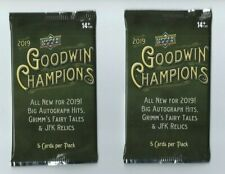 2019 UPPER DECK GOODWIN CHAMPIONS 2 Pack Hobby 5 Cards per Pack