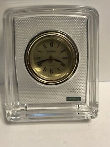 Bulova Mantel or Shelf Clock Lead Crystal Over 24% PbO Details Hoya Beautiful J1
