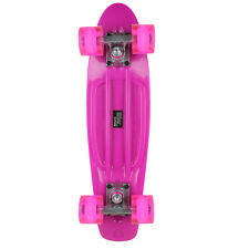 Street Surfing Plastic Cruiser Skateboard Beach Board Glow Pink