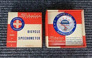 Schwinn Bike Speedometer - NOS Original 1960's Vintage Bicycle Accessory USA