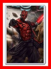 "STAR WARS CHARACTER SITH LORD DARTH MAUL 11"" X 17"" DIGITAL ART PRINT"