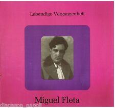 Miguel Fleta: Lebendige Vergangenheit - LP Vinyl 33 Rpm