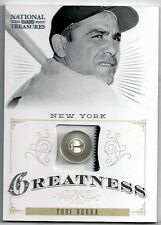 2012 National Treasures YOGI BERRA Greatness Jersey Relic Prime Button #2/4