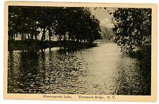 Thompson Ridge NY - SHAWANGUNK LAKE - Postcard
