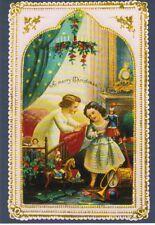 1900 Weihnachtskarte mit Golfszene Grußkarte Reprint England