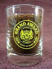 Vintage Shot Glass Grand Award Aged 12 Years Canadian Whisky (97)
