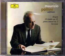 Maurizio POLLINI: CHOPIN 12 Etudes Op.25 Piano Sonata No.2 Berceuse Op.57 CD Neu