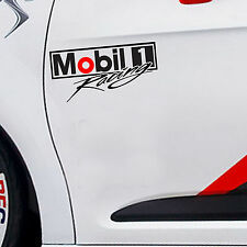 "*9.5""X 1P. MOBIL 1 RACING OIL AUTO LUBE STICKER DIE-CUT DECAL VINYL SPORT BIKE"
