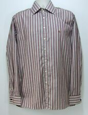 Burberry London Shirt Mens Size 16 1/2-42 Striped Embroidered Burberry Logo