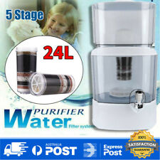 24L 5 Stage Water Filter Ceramic Carbon Mineral Bench Top Dispenser Purifier Jug