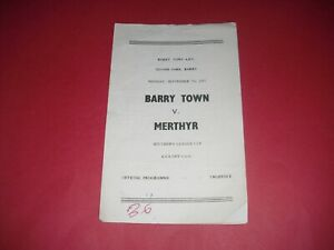 1953/54 SOUTHERN LEAGUE CUP BARRY TOWN V MERTHYR