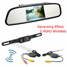 "4.3"" Car TFT LCD Mirror Monitor+Wireless Reverse Car Rear View Backup Camera Kit"