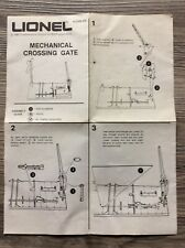 LIONEL 2309 MECHANICAL CROSSING GATE INSTRUCTIONS