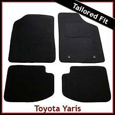 TOYOTA YARIS 5-Door Mk1 / XP10 1999-2005 Tailored Carpet Car Floor Mats BLACK
