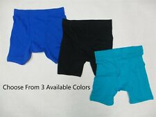 Gildan Men's Cotton Boxer Briefs Underwear Small in Blue, Black, and Turquoise