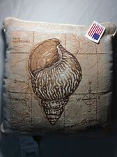 Sea Treasures Conch Tapestry Throw Pillow Afghan Pillow TLSTCO