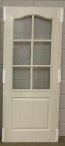 "LPD Classic 1 Panel 6 Lite Glazed Internal White Door, 78""x33""x35mm,(178),NEW"