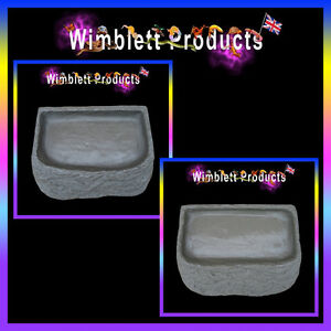 Reptile Tortoise Water Dishes & Food Bowls For Tortoises, Reptiles Geckos Snakes