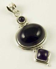 Collares y colgantes de joyería con gemas colgante plata amatista