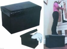 Storage Seat Crocodile Effect Max Weight 100 kg, Handy Seat And Storage FREE P&P