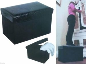 Storage Seat Crocodile Effect Max Weight 100 kg, Handy Seat And Storage FREE P&P